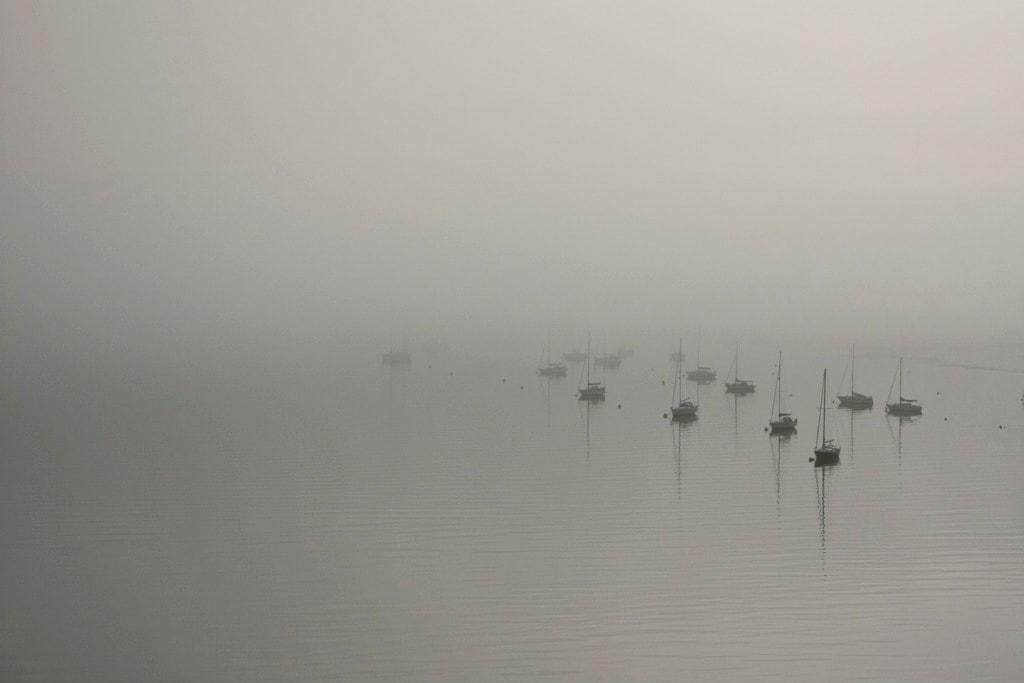 Harwich International in de mist (foto: Ernst Schrijver)