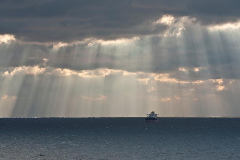 Uitzicht over Noordzee vanaf Stena Line (foto Ernst Schrijver)