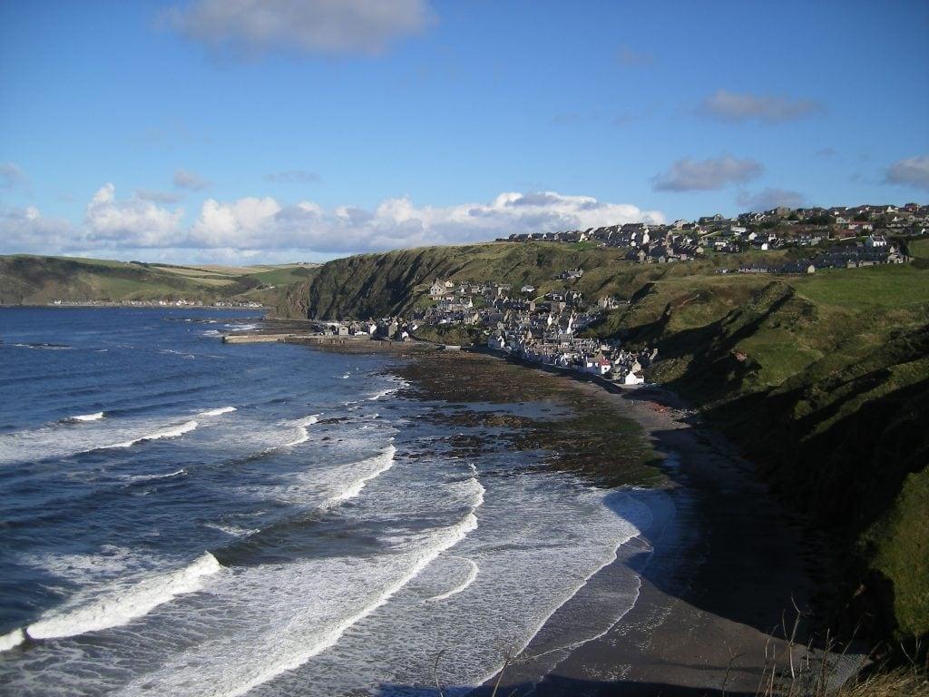 Gardenstown aan de Moray Firth