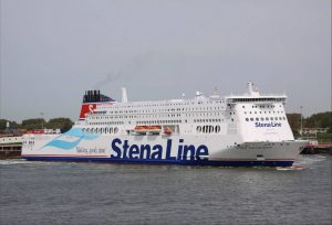 De Stena Line Hollandica n de haven van Hoek van Holland