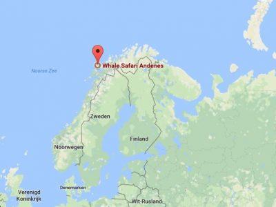 Locatie Andenes, Lofoten, Noorwegen