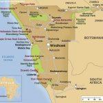 Overzichtskaart Namibië
