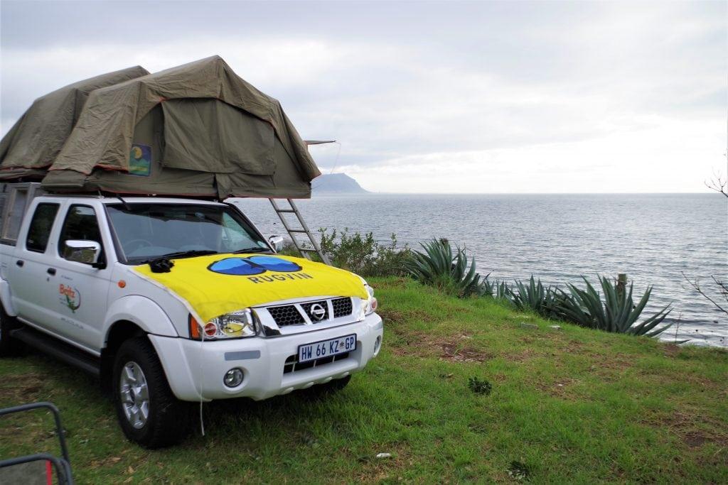 Bij Miller's Point op het Kaapse schiereiland. Hier doken 's-ochtends al de eerste bultruggen op.