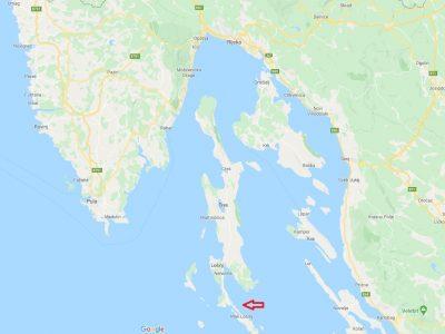 Kaartje Kroatië Losinj
